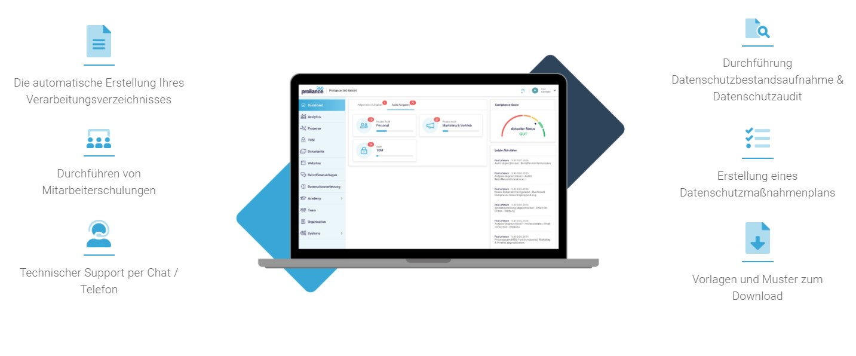 Datenschutzsoftware Proliance 360 | Für externe Datenschutzbeauftragte