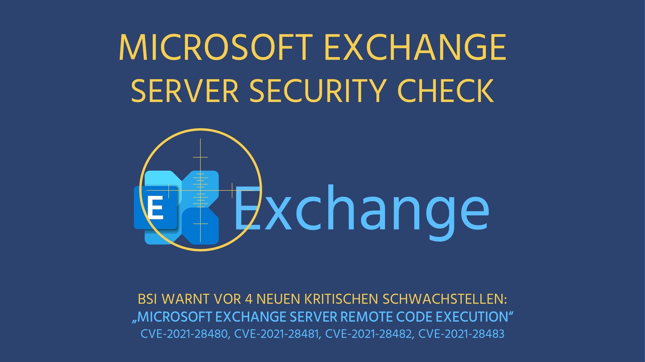 Microsoft Exchange Server Security Check